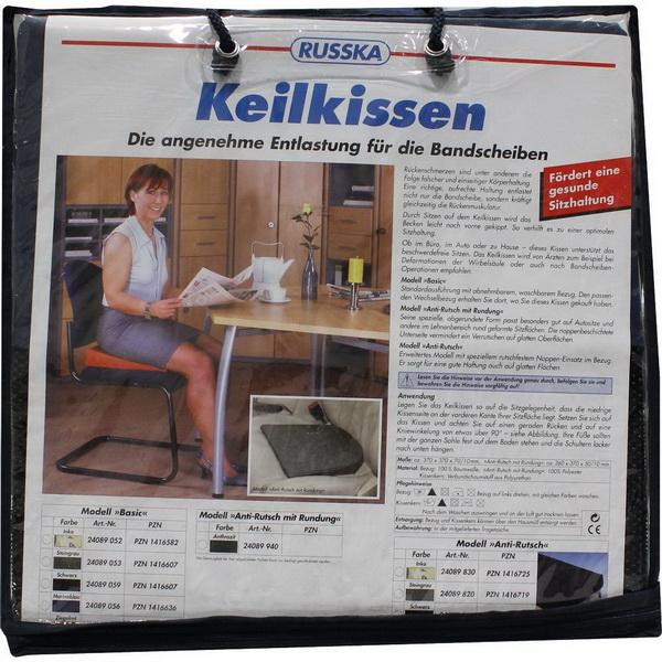 Werkmeister Sitty Auto-Keilkissen steingrau